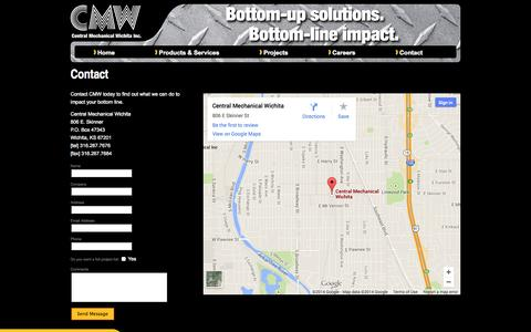 Screenshot of Contact Page cenmech.com - Contact Central Mechanical Wichita - Central Mechanical Wichita - captured Oct. 1, 2014