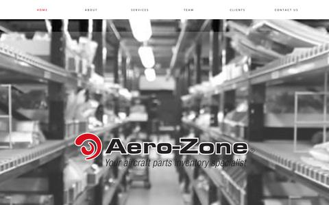 Screenshot of Home Page aero-zone.com - Aero-Zone | Your Aircraft Parts Inventory Specialist - captured Oct. 3, 2018
