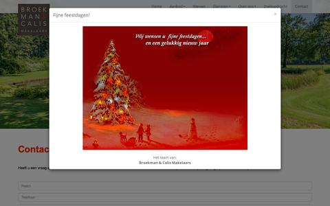 Screenshot of Contact Page broekman-calis.nl - Contact opnemen - captured Dec. 19, 2018