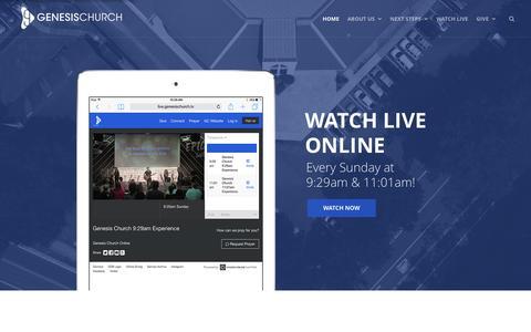 Screenshot of Home Page genesischurch.tv - Home » Genesis Church :: Tallahassee, FL - captured Jan. 27, 2016