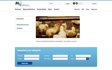 Screenshot of Signup Page joneshamiltonag.com - Sweepstakes | Jones Hamilton - captured Oct. 6, 2014