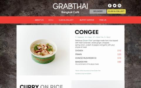 Screenshot of Menu Page grabfood.co.uk - grabthai | MENU - captured Nov. 12, 2016