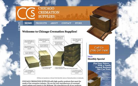Screenshot of Home Page chicagocremationsupplies.com - Rental Inserts - Chicago Cremation Supplies - captured May 16, 2017
