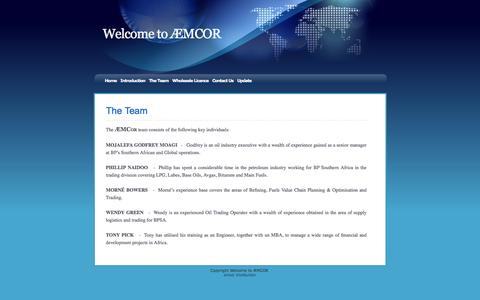 Screenshot of Team Page aemcor.com - The Team - captured May 28, 2017