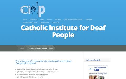 Screenshot of About Page cidp.ie - Catholic Institute for Deaf People | Catholic Institute for Deaf People - captured Oct. 26, 2014