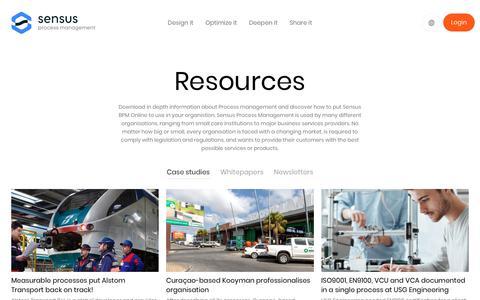 Screenshot of Case Studies Page sensus-processmanagement.com - Resources - Sensus - captured Oct. 18, 2018