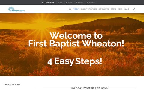 Screenshot of About Page fbcwheaton.org - » About Our Church - captured Oct. 6, 2014
