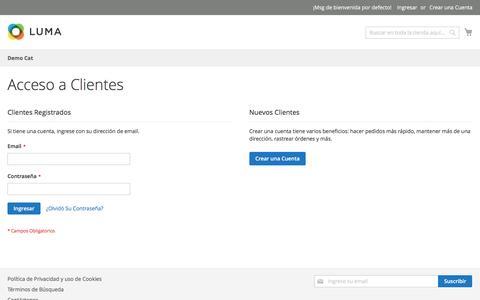 Screenshot of Login Page pcdomino.com - Acceso a Clientes - captured Nov. 15, 2016