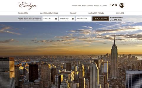 Screenshot of Press Page theevelyn.com - NYC Hotel Reviews | Press Room | The Gershwin Hotel - captured Feb. 15, 2016