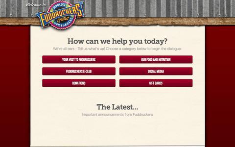 Screenshot of Support Page guestresponse.com - Fuddruckers: Contact Us - captured Oct. 9, 2014