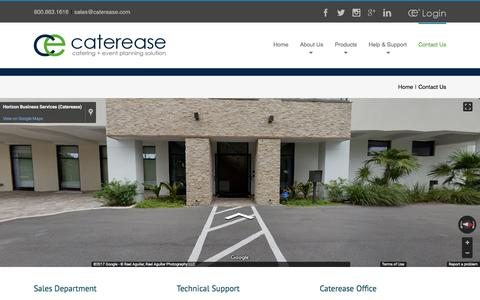 Contact us for catering software support | Caterease