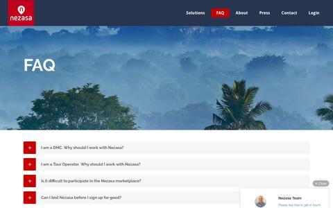 Screenshot of FAQ Page nezasa.com - FAQ – Nezasa - captured March 1, 2016