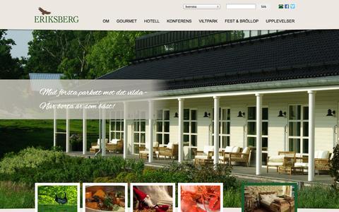 Screenshot of Home Page eriksberg.nu - Välkommen till Eriksberg Vilt & Natur | Eriksberg Vilt & Natur AB - captured Oct. 3, 2014