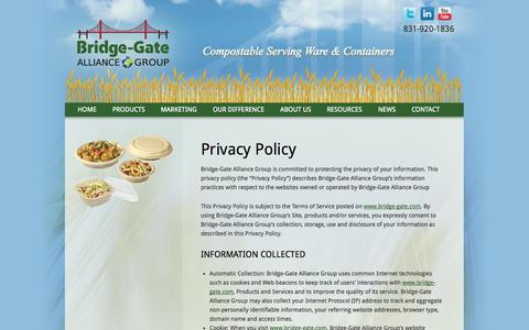 Screenshot of Privacy Page bridge-gate.com - Privacy Policy | Bridge-Gate Alliance Group - captured Sept. 24, 2014