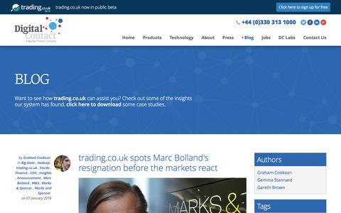 Screenshot of Blog digitalcontact.co.uk - Blog | Digital Contact - captured Jan. 7, 2016