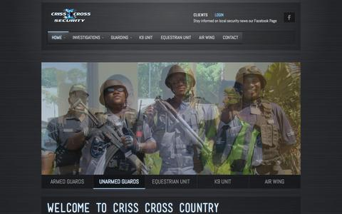 Screenshot of Home Page crisscross.co.za - Criss Cross Security - captured Oct. 3, 2014