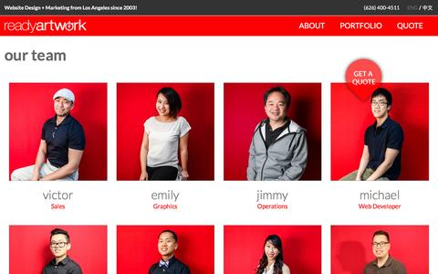 Screenshot of Team Page readyartwork.com - Professional Web Design Team - Ready Artwork Staff - captured April 1, 2017