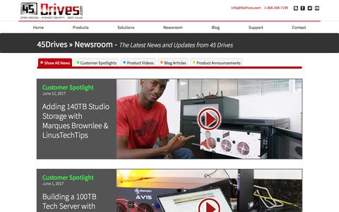 Screenshot of Press Page 45drives.com - 45 Drives Community Resources - captured June 18, 2017