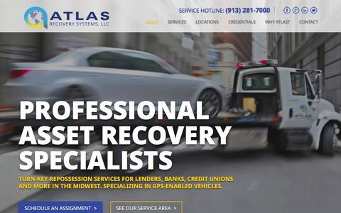 Screenshot of Home Page repopeople.net - Repo Company, Repossession, Car Repo, Auto Repo | Atlas Creditor Services - captured Feb. 6, 2016