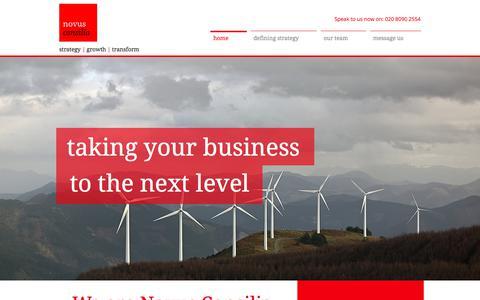 Screenshot of Home Page novusconsilia.co.uk - Novus Consilia   Strategic consultants - captured July 6, 2018