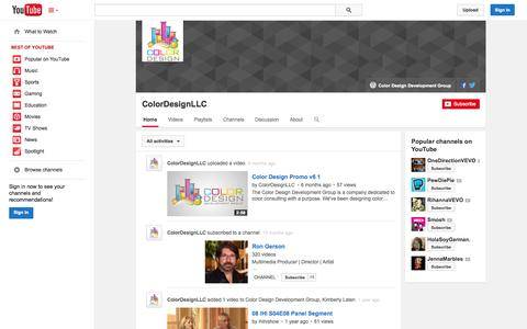 Screenshot of YouTube Page youtube.com - ColorDesignLLC  - YouTube - captured Oct. 23, 2014