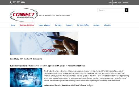 Screenshot of Case Studies Page connectcomputer.com - Server and Desktop Virtualization Case Study - Fairfield County - captured Dec. 10, 2015