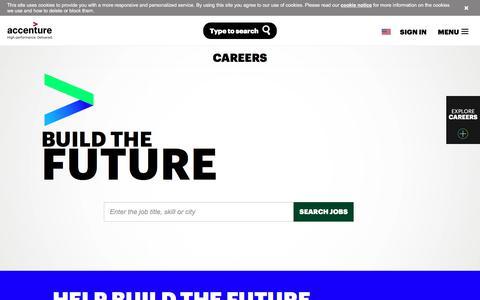 Screenshot of Jobs Page accenture.com - Accenture Career Opportunities - captured Oct. 16, 2017