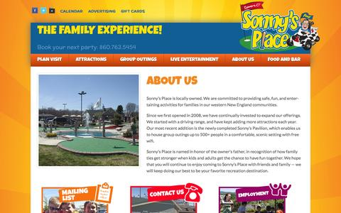 Screenshot of About Page sonnysplace.com - About Us - Sonny's Place - captured Oct. 9, 2014