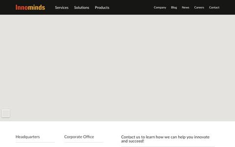 Screenshot of Contact Page innominds.com - Innominds - Contact Us - captured June 16, 2019