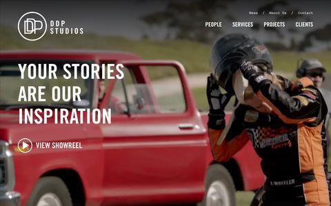 Screenshot of Home Page ddpstudios.com.au - Home · DDP Studios - captured Jan. 26, 2016