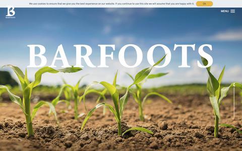 Screenshot of Home Page barfoots.com - Barfoots | A Global Farming and Food Company - captured Oct. 5, 2018