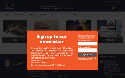 Screenshot of Press Page rjrinnovations.com - News & Events - RJR Innovations - captured Oct. 20, 2018
