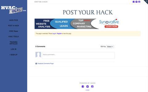 Post your Hack | HVAC Hacks
