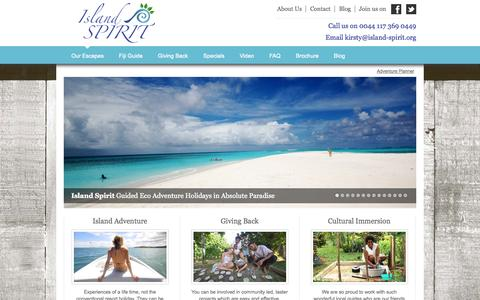 Screenshot of Home Page island-spirit.org - Island Spirit - captured Sept. 30, 2014