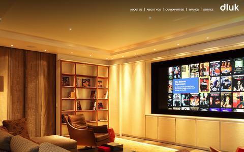 Screenshot of Home Page dluk.co.uk captured Sept. 30, 2014