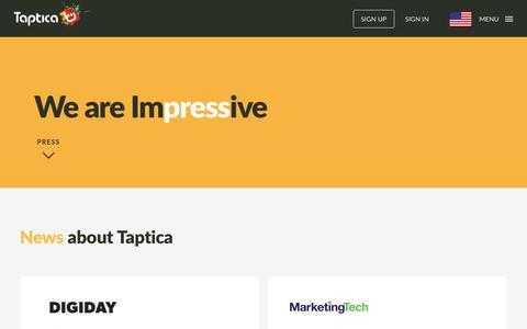 Screenshot of Press Page taptica.com - Press - Taptica - captured Sept. 12, 2017