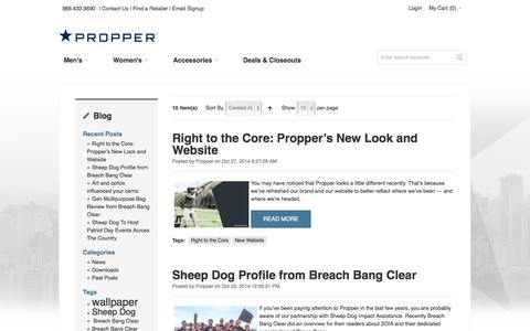 Screenshot of Blog propper.com - Blog - captured Nov. 2, 2014