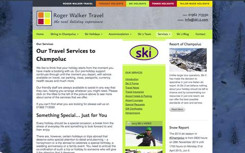 Screenshot of Services Page ski-2.com - Travel Services to Champoluc | Roger Walker Travel - captured Oct. 4, 2014