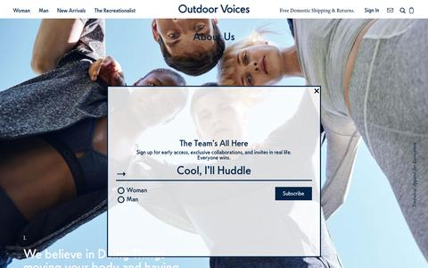 About Us – Outdoor Voices