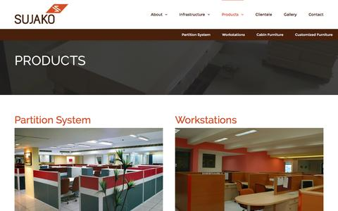 Screenshot of Products Page sujako.com - Our Products - Sujako Interiors Pvt. Ltd. - captured Dec. 17, 2016