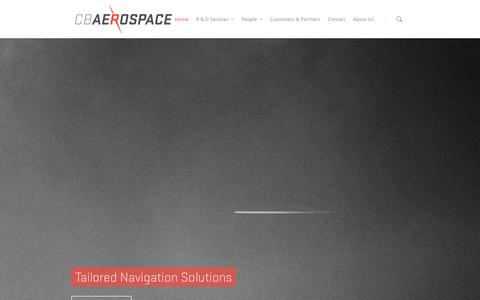 Screenshot of Home Page cbaerospace.com.au - cbaerospace - captured Sept. 26, 2014