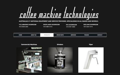 Screenshot of Products Page coffeemachinetechnologies.com.au - Machines | Coffee Machine Technologies | Coffee Machines, Grinders, Accessories - captured March 8, 2016