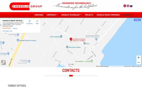 Screenshot of Contact Page consolid.com.tr - CONTACTS | Consolid Group - captured Sept. 25, 2018