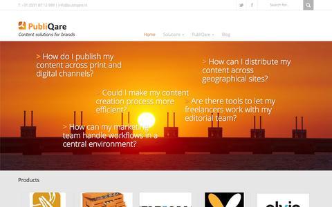 Screenshot of Blog qare4media.nl - Home - PubliQare - captured Sept. 29, 2014