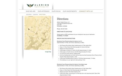Screenshot of Maps & Directions Page alerion.com - Directions – Alerion - captured Oct. 4, 2014
