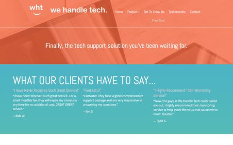 Screenshot of Trial Page wehandletech.com - REQUEST A FREE TRIAL | We Handle Tech - captured June 18, 2017