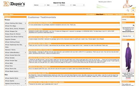 Screenshot of Testimonials Page dupsies.com - Customer Testimonials - Buy from Dupsies - captured Sept. 6, 2016