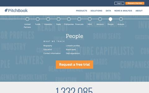 Screenshot of Team Page pitchbook.com - Network with PE & VC Partners | People in Venture Capital, Private Equity - captured Oct. 29, 2016
