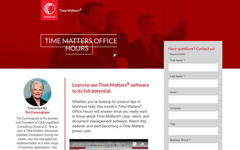 Time Matters Office Hours