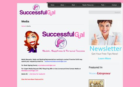 Screenshot of Press Page successfulgirl.com - MediaThe Successful Gal™ - captured Oct. 10, 2014